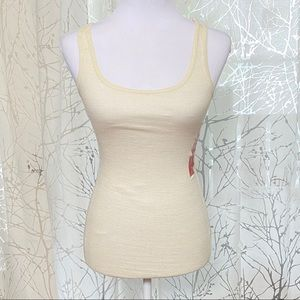 Mossimo Metallic gold silver ribbed tank top